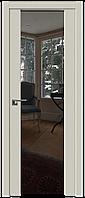 Дверь межкомнатная царговая 8U Магнолия Сатинат, Зеркальный триплекс, 900