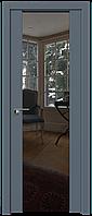 Дверь межкомнатная царговая 8U Антрацит, Зеркальный триплекс, 600