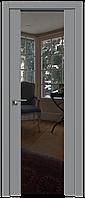 Дверь межкомнатная царговая 8U Манхэттен, Зеркальный триплекс, 600