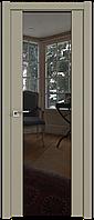 Дверь межкомнатная царговая 8U Шеллгрей, Зеркальный триплекс, 600