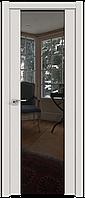 Дверь межкомнатная царговая 8U ДаркВайт, Зеркальный триплекс, 600