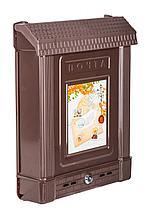 Ящик почтовый М6434 с замком, коричневый