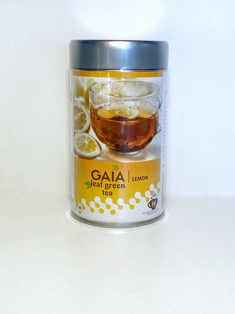 Зеленый чай Gaia Leaf Green Tea-Lemon, 100гр, Gaia