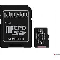 Карта памяти Kingston 64GB microSDXC Canvas Select Plus 100R A1 C10 Card + Adapter, SDCS2/64GB