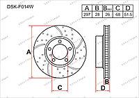 Тормозные диски DSK-F014W Gerat