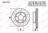 Тормозные диски DSK-F091 Gerat