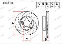 Тормозные диски DSK-F100 Gerat