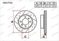 Тормозные диски DSK-F105 Gerat