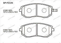 Тормозные колодки BP-F033 Normal Gerat
