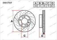Тормозные диски DSK-F007 Gerat