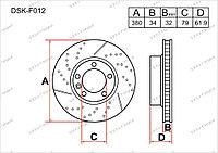 Тормозные диски DSK-F012 Gerat