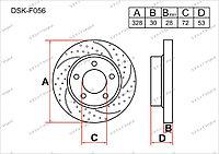 Тормозные диски DSK-F056 Gerat