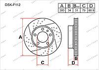 Тормозные диски DSK-F112 Gerat