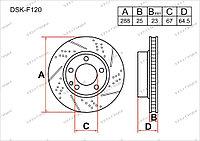 Тормозные диски DSK-F120 Gerat