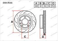 Тормозные диски DSK-R055 Gerat