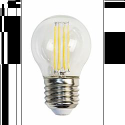 Лампа светодиодная филамент  (9W) 230V E27 2700K филамент G45 прозрачная