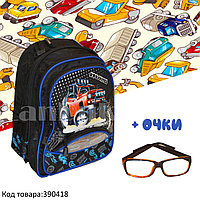 Рюкзак с ортопедической спинкой детский со светоотражателями и с очками Крушитель JinRong F 50
