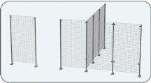 Стойка универсальная Shols для формирования внутреннего пространства магазина