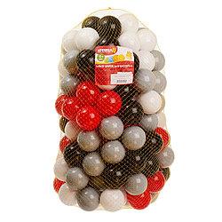 Шарики для сухого бассейна с рисунком 4328411, диаметр 7,5 см, 150 штук, 4 цвета