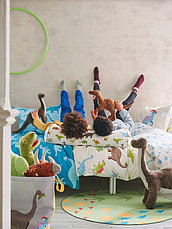 ЙЭТТЕЛИК Подушка, динозавр, разноцветный80 см, фото 3
