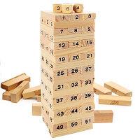 Деревянная игра Jenga с цифрами