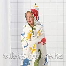ЙЭТТЕЛИК Полотенце с капюшоном, динозавр, разноцветный140x70 см, фото 2