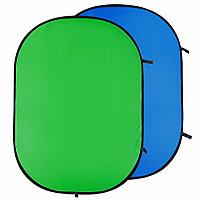 Двухсторонний тканевый фон хромакей ,зеленый GreenBean Twist 180 х 210 B/G