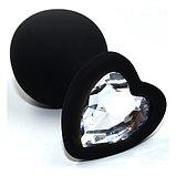 Маленькая силиконовая втулка с кристаллом в виде сердца, фото 2