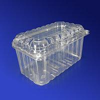 Kazakhstan Контейнер пластиковый 1700мл PET прозрачный с нераздельной крышкой перфорация 18,8х11,5х11,0см 240 шт/кор ПР-РКФ-1100 ПЭТ