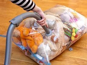 Вакуумный пакет для хранения одежды и постельного белья с клапаном For Clothing (80х130 см), фото 3