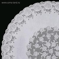 Скатерть Towa «Ажурная» Dia Rose, круг 152 см, цвет белый