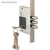 Замок врезной сувальдный KALE 257/L, 5 ключей, цвет хром