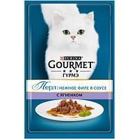 Влажный корм для кошек Purina Gourmet Perle, ягнёнок, пауч, 85 г.