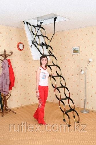 Чердачная лестница ножничная Oman 60х120х290см тел.Whats Upp. +7 701 100 08 59