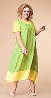 Платье Romanovich-1-1790, зеленые тона, 56
