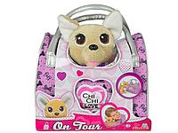 Мягкая игрушка Собачка Чихуахуа Chi Chi Love с сумочкой 20 см. лает