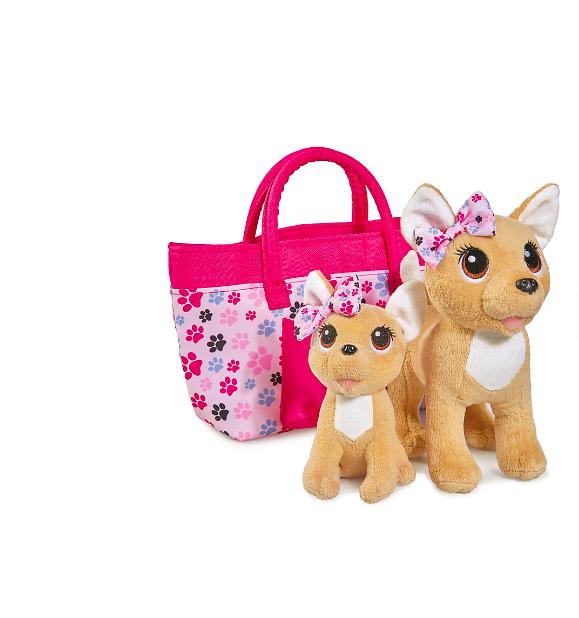 """Плюшевые собачки Simba""""Chi-Chi love"""" Счастливая семья, 2 собачки в сумочке от Simba - фото 1"""