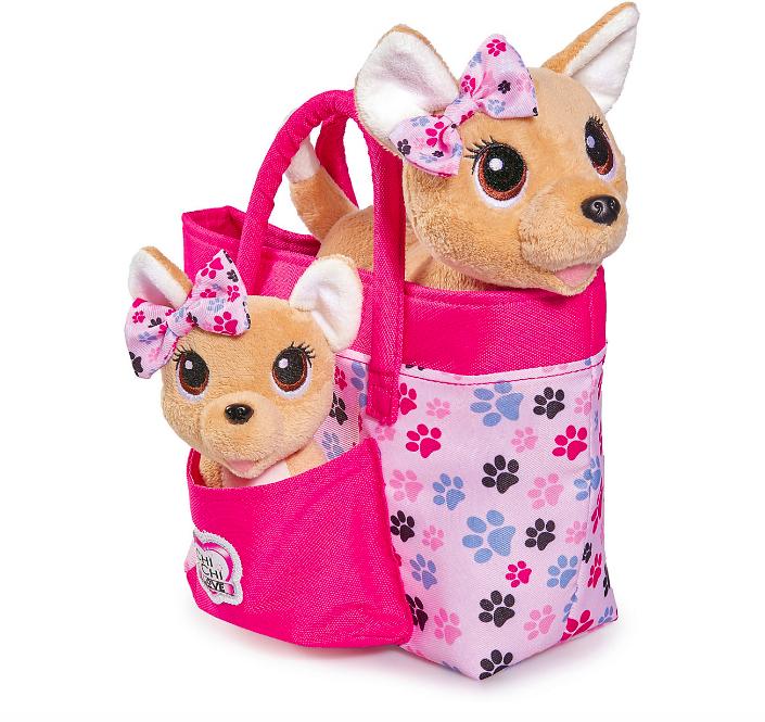 """Плюшевые собачки Simba""""Chi-Chi love"""" Счастливая семья, 2 собачки в сумочке от Simba - фото 3"""