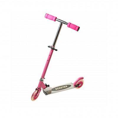 Уценка! Самокат двухколесный SCOOTER, цвет розовый