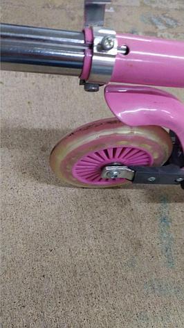 Уценка! Самокат двухколесный SCOOTER, цвет розовый, фото 2