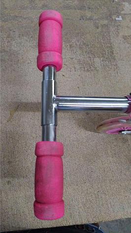 Уценка (товар с небольшим дефектом) Самокат двухколесный SCOOTER, цвет розовый, фото 2