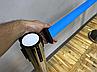 Серебристая стойка с двойной вытяжной лентой синего цвета, фото 3