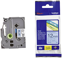 Лента TZe-531, черным на синем, для принтеров Brother PT-1010,  PT-1280VP, PT-D200VP, PT-E100VP и пр.