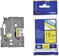 Лента TZe-631, черным на желтом , для принтеров Brother PT-1010,  PT-1280VP, PT-D200VP, PT-E100VP и пр.