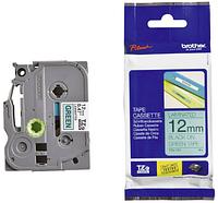 Лента TZe-731, черным на зеленом , для принтеров Brother PT-1010,  PT-1280VP, PT-D200VP, PT-E100VP и пр.