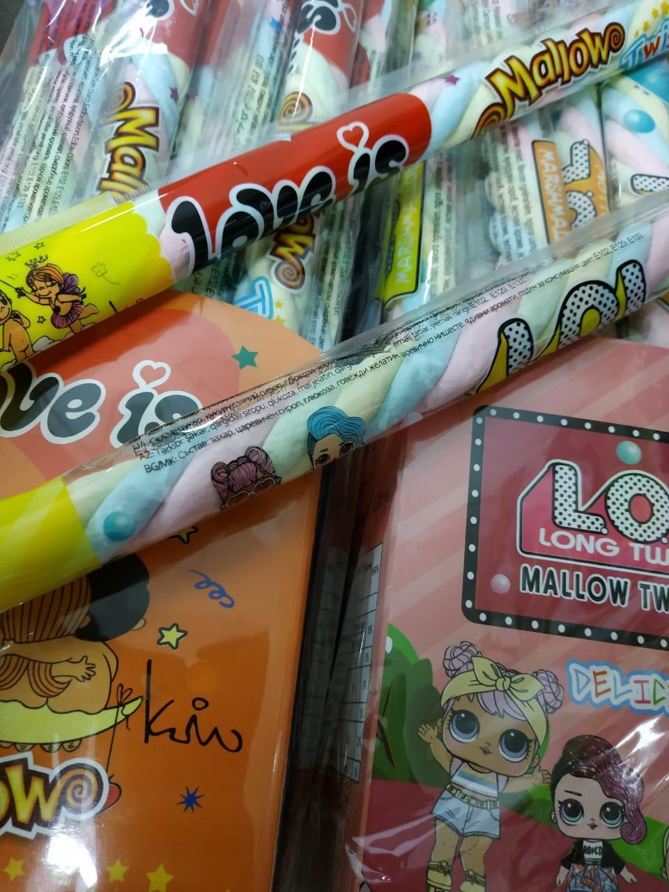 Суфле Косичка разноцветная Mallow Love is, LOL 18 гр.