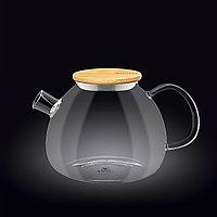 Чайник стеклянный с деревянной крышкой 1500мл Wilmax(888825)