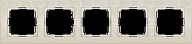 Рамка на 5 постов /WL05-Frame-05-ivory (слоновая кость)