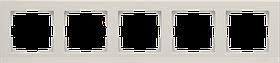 Рамка на 5 постов /WL04-Frame-05-ivory (слоновая кость)