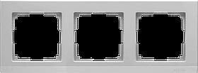 Рамка на 3 поста /WL04-Frame-03 (серебряный)